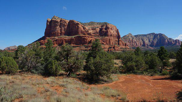 Sedona, America, Arizona, Southwest, Landscape, Red