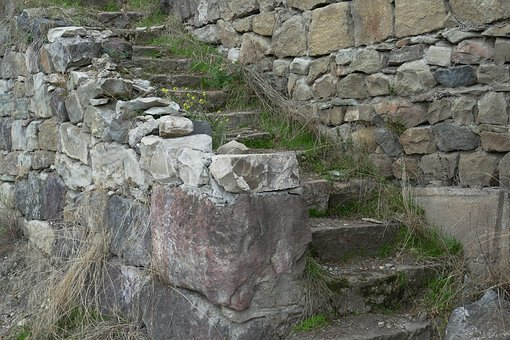 Stairs, Level, Staircase, Old, Stone Stairway, Rise