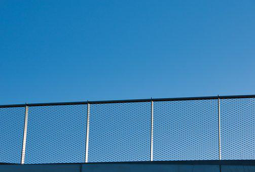 Railing, Sky, Blue, Transition, Steel