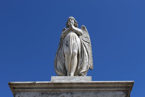 Marble, Angel, Statue, Sculpture, Stone, Religion
