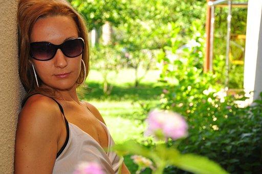 Sunglasses, Vacation, Sun, Garden, Fashion, Woman