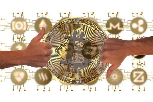 Currency, Bitcoin, Feedback, Thumb, High, Down, Consent