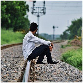Alone, Feeling, Track, Pain, Unhappy, Human, Depression