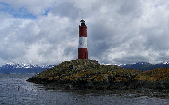 Lighthouse, Beagle Canal, Argentina, Ushuaia, Nature