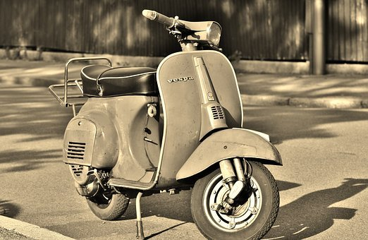 Vespa, Motor Scooter, Roller, Cult, Two Wheeled Vehicle