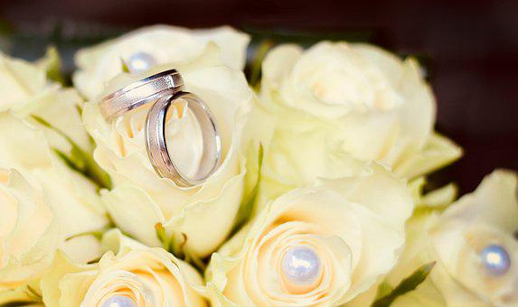 Ring, Wedding, Roses, White, Rose, Strauss, Bouquet