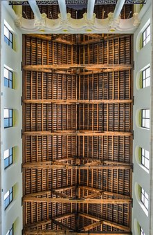 Ceiling, Roof, Wooden, Architecture, Construction