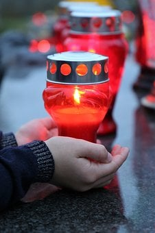 All Saints, Candle In Child Hands, Condolence, Sadness