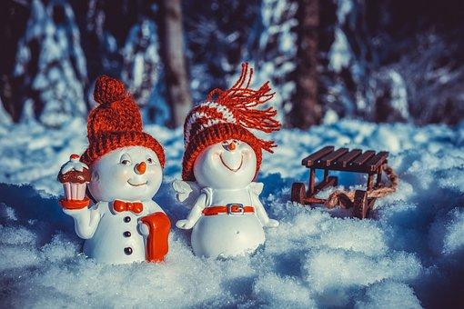 Snowman, Angel, Fun, Figure, Funny, Happy, Cap