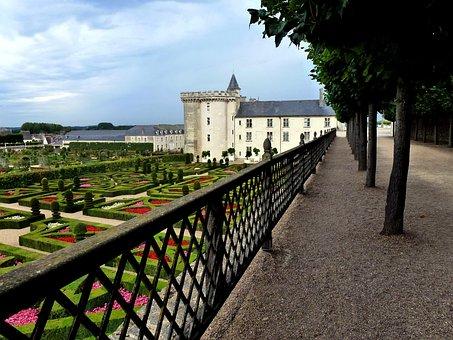 Castle Of Villandry, Architecture, Garden, Beauty
