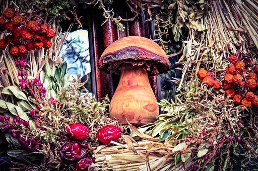 Autumn, Autumn Wreath, Door Wreath, Decoration
