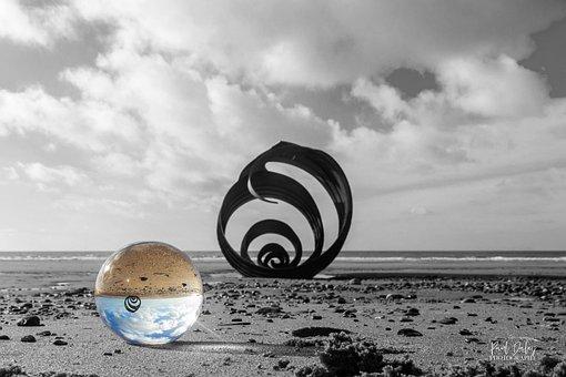 Cleveleys, Beach, Blackpool, Mary's, Shell, England