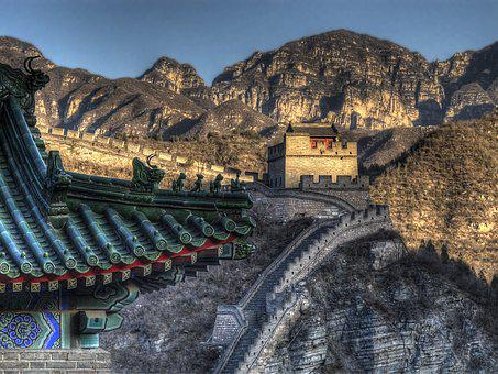 China, Great Wall, Landmark, Attraction, Architecture