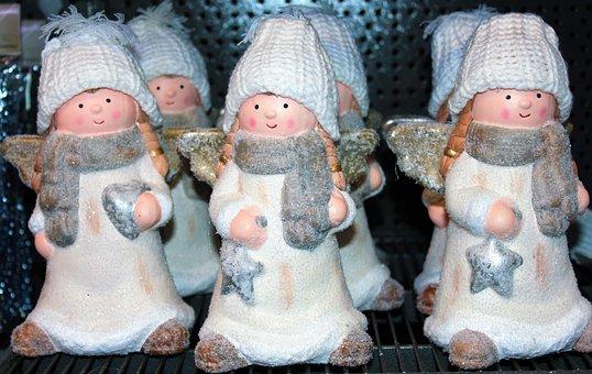 Doll, Christmas, Ornament, Snow, Girl, Decoration