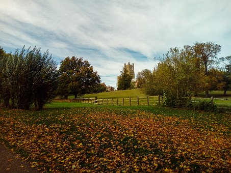 Elle Way, England, Abbey, Autumn, Church, Gothic