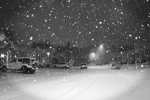 Snow, Street, Car, City, Cold, Winter, Road, Christmas