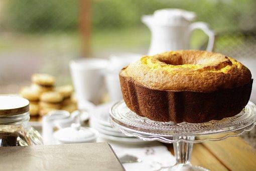 Tea, Coffee, Cake, Food, Sweet, Cup, Sweetness