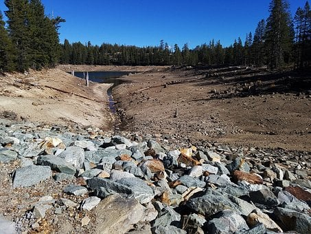 Drought, California, Dry Lake, Mountain Lake, Low Water
