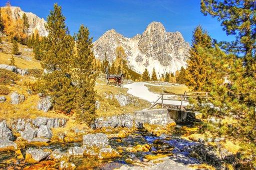 Indian Summer, Fanes, Dolomites, Rock, Mountains