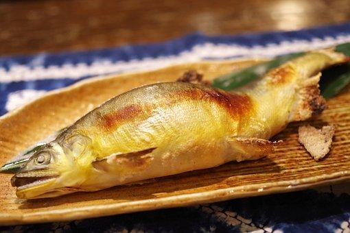Fish, Freshwater Fish, Ayu, Food, Grilled Fish, Cuisine