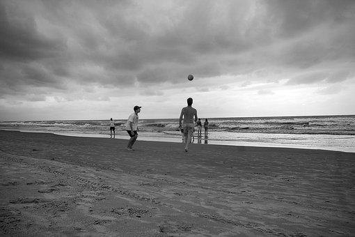 Beach, Football, Leisure, Sand, Mar, Fun, Sport, Travel
