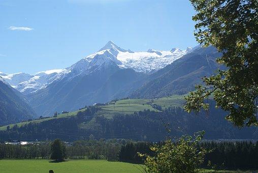 Glacier In Austria, Kitzsteinhorn, Mountains