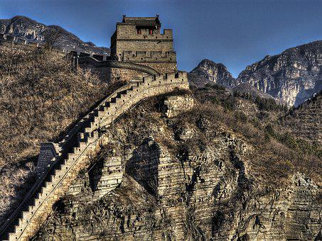 Great Wall, Great, Wall, China, Landscape, Mountain