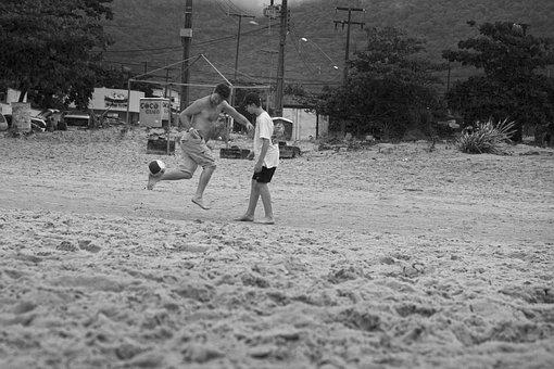 Beach, Football, Summer, Mar, Holidays, Travel, Play