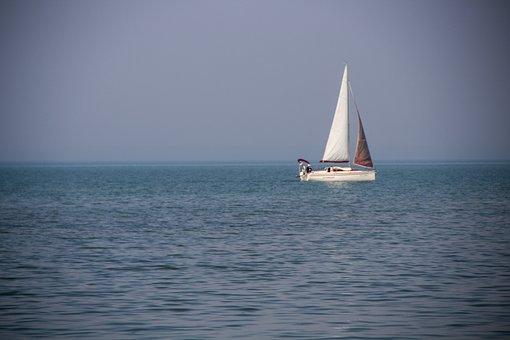 Sailing, Water, Boat, Ship, Blue, Nature, At Sea, Lake