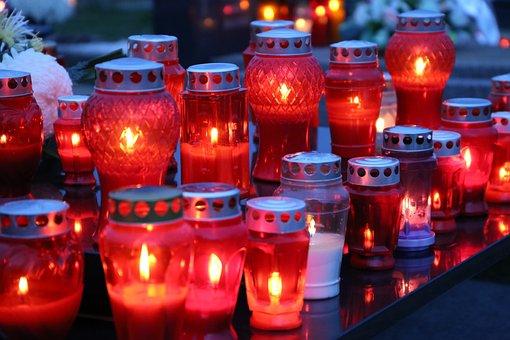 All Saints, Candles, Lantern, Illumination, Light
