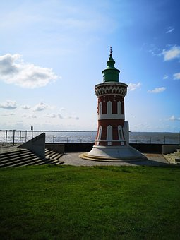 Bremerhaven, Coast, Lighthouse, Sea