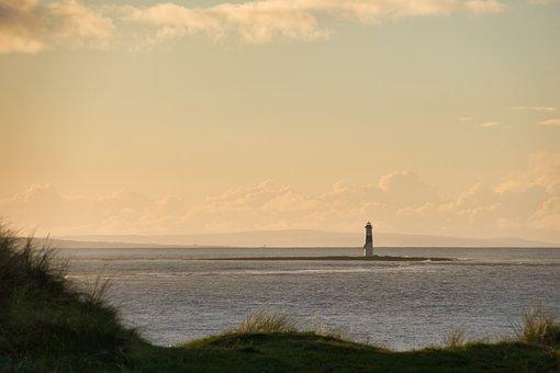 Ireland, Lighthouse, Sligo, Sky, Sunset