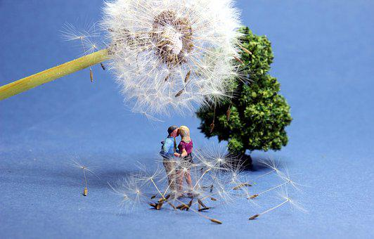 Dandelion, Lovers, Miniature Figures, Rendezvous