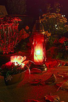 Candle, Funeral, Cemetery, Mood, Day Of The Dead, Light