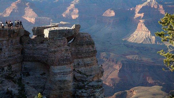 Grand Canyon, California, Canyon, Mountains, Clouds