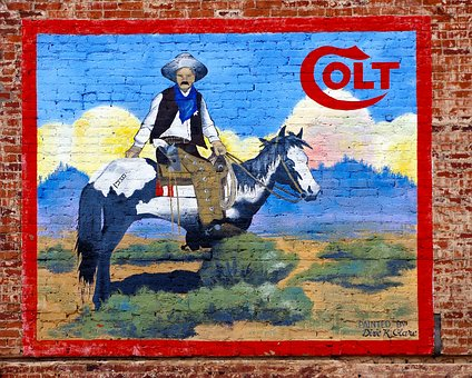 Cripple Creek Colt Mural, Mural, Wall, Cripple Creek