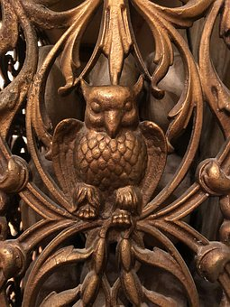 Radiator Cover, Owl, Brass