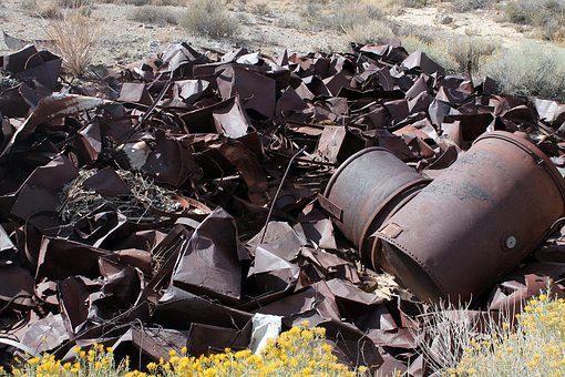 Scrap Metal, Barrels, Rusty, Scrap, Abandoned, Rusted