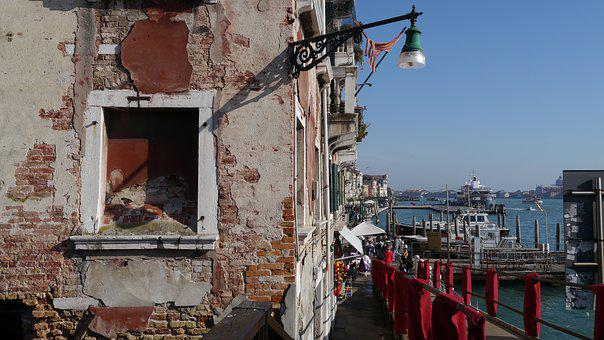 Venice, Italy, Channel, Port, Old Building, Ship, Boat