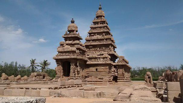 Mahabalipuram, Shore Temple, Temple, Beach, Ancient