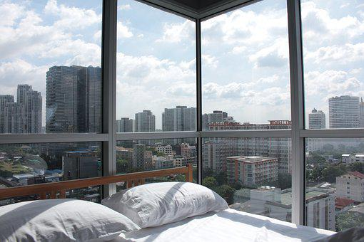 Room, View, Window, City, Day, Space, Modern, Living