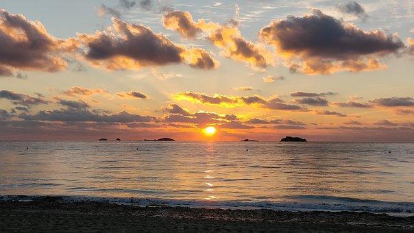 Ibiza, Sunset, Spain, Eivissa, Balearic Islands, Sea