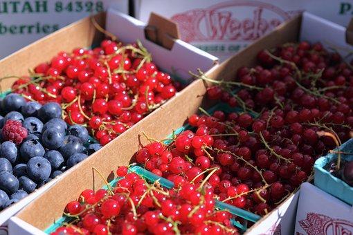 Summer, Berries, Fruit, Farmer's Market