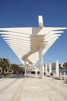 Malaga, Spain, Andalusia, Port, Blue, Sun, Marina