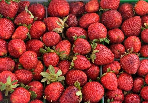 Strawberries, Fruit, Fresh, Red, Food, Sweet, Ripe