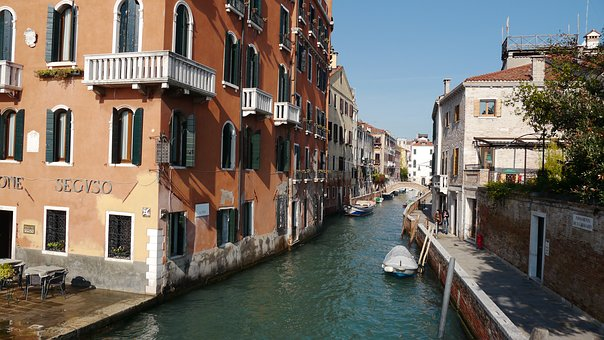 Venice, Italy, Channel, River, Gondola, Travel