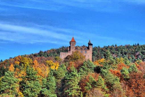 Berwartstein-erlenbach, In Dahn, Autumn, Forest, Nature