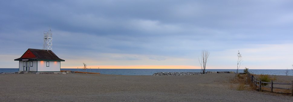 Toronto, Beach, Panorama, Lifeguard Station