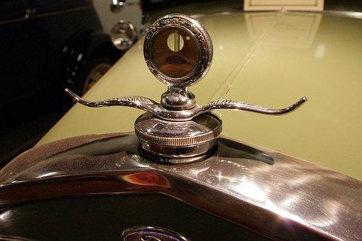 Ford Hood Ornament, Hood, Ornament, Ford, Chrome, Car