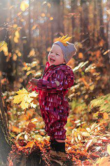Kids, Happiness, Autumn, Nature, Childhood, Smile, Baby